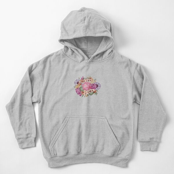 Roll Like a Girl Kids Pullover Hoodie