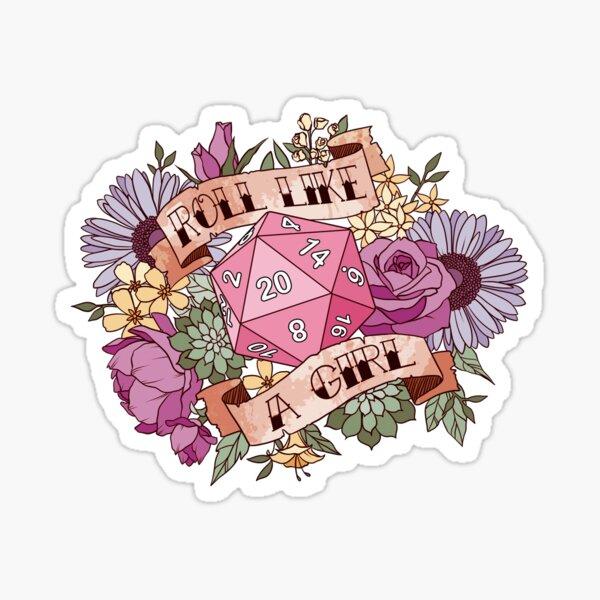 Roll Like a Girl Sticker