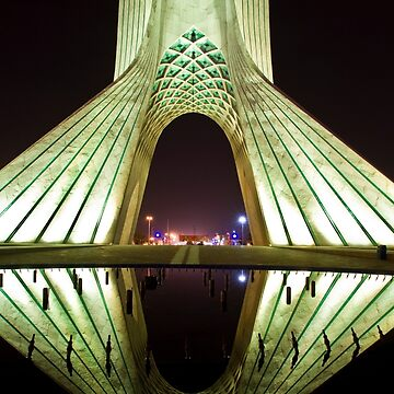 Azadi Tower (White Reflection) -Tehran - Iran by BryanFreeman