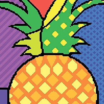 8-bit Abstract Pineapple by unclestich