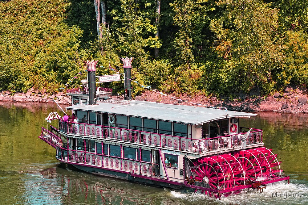 """Willamette Queen Paddle Wheel Boat"" by Marylamb 