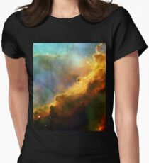 Space storm Messier 17 Women's Fitted T-Shirt