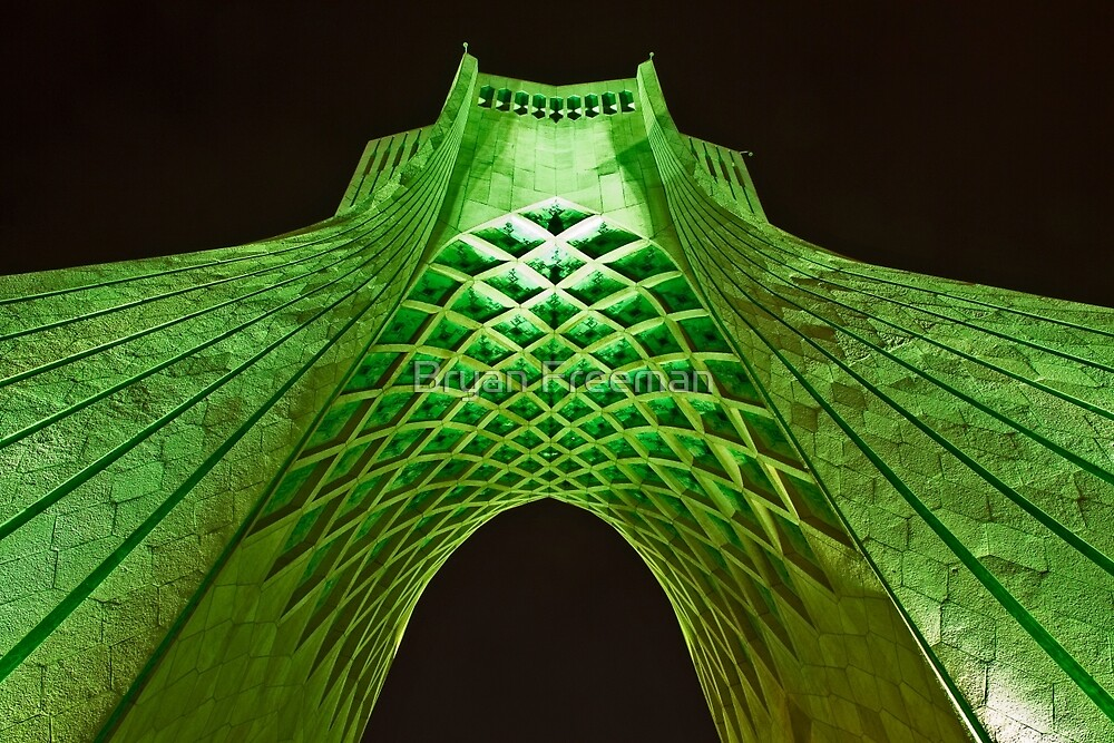 Azadi Tower (Green) -Tehran - Iran by Bryan Freeman