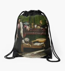 Hans Holbein the Younger - The Ambassadors  Drawstring Bag