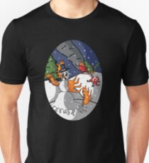 the Burning Snow Man Unisex T-Shirt