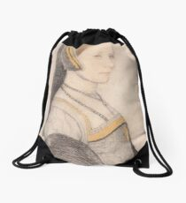 Hans Holbein the Younger - Anne Cresacre  Drawstring Bag