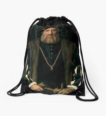 Hans Holbein the Younger - Charles de Solier, Sieur de Morette Drawstring Bag