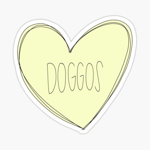 Doggos Heart Yellow Sticker