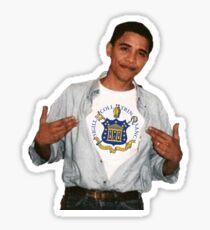 Trinity College Obama Sticker Sticker