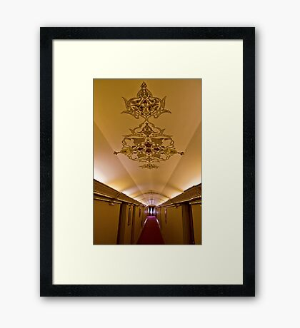 The Amazing Abbasi Hotel - Corridor - Esfahan - Iran Framed Print