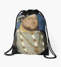 Hans Holbein the Younger - Portrait of Henry VIII of England  Drawstring Bag