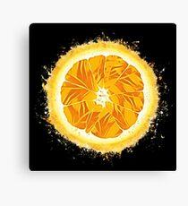 Orange fresh glowing Art Canvas Print