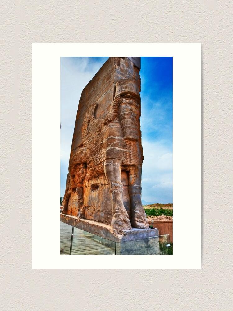 Palace Entrance Persepolis Iran Art Print By Bryanfreeman Redbubble