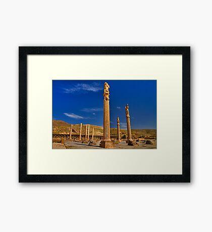 Palace Columns - Persepolis - Iran Framed Print