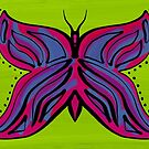 Hand painted butterfly by Pamela Maxwell