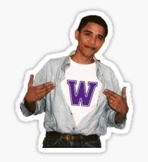 Williams College Obama Sticker Sticker