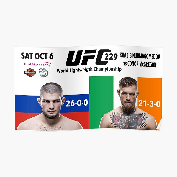 Conor McGregor Ultimate Fighting Champion Boxing UFC 257 World Champion Irish MMA World Champion Poster Print from Ireland