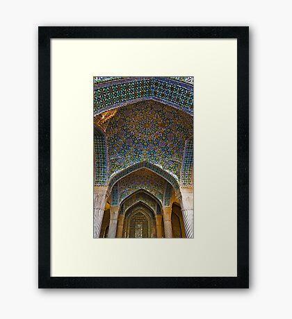 Vakil Mosque Main Entrance - Shiraz - Iran Framed Print