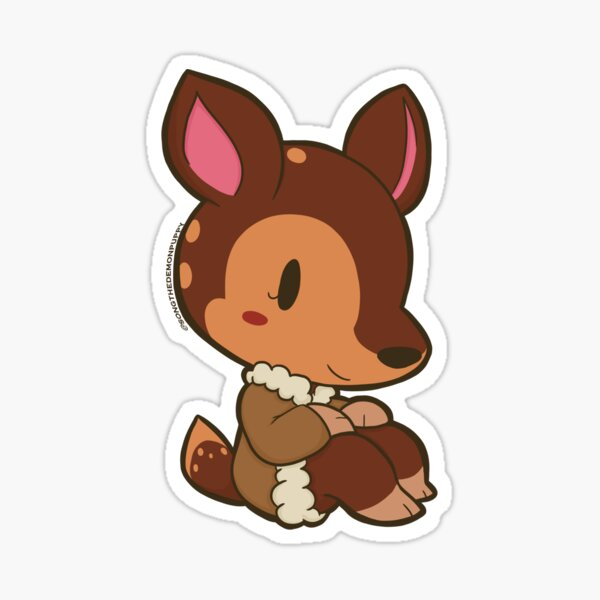 Fauna Animal Crossing Stickers Redbubble