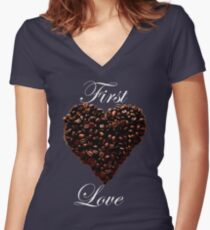 First Love  Women's Fitted V-Neck T-Shirt