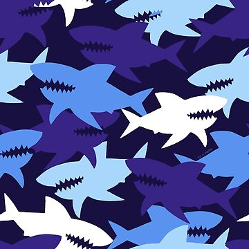 Blue Sharks Camouflage Pattern by ArtVixen