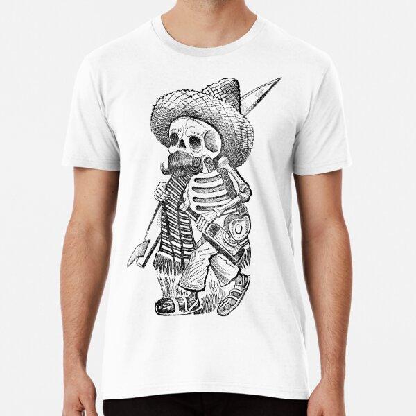 Boozy Mexican Skeleton Surfer Premium T-Shirt
