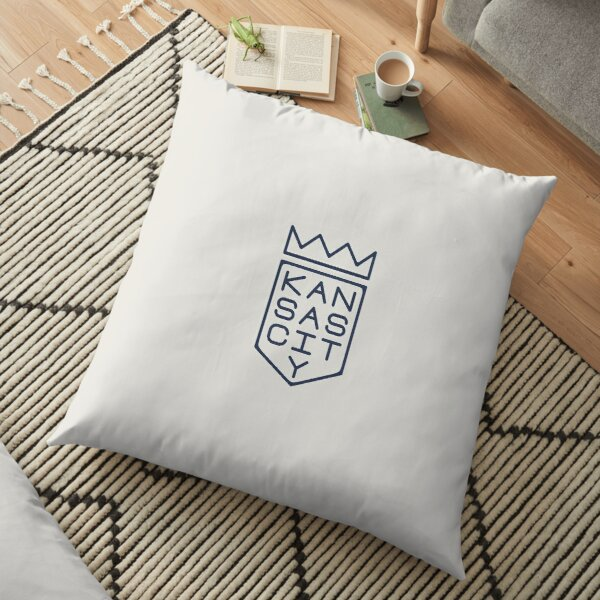 Shield and Crown (blue Floor Pillow