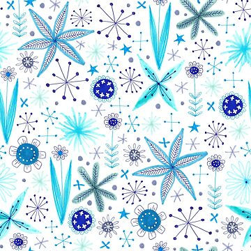 blue floral pattern by swoldham