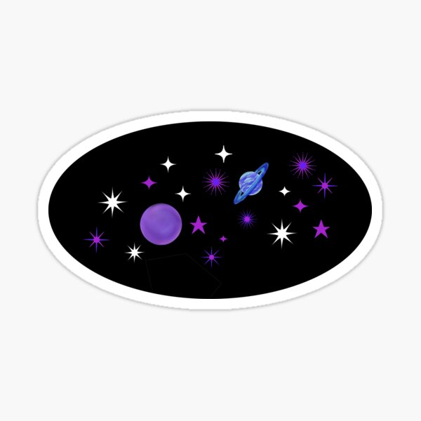 Just close your eyes and think about space... Sticker