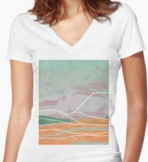 Dreamy Hills IV Women's Fitted V-Neck T-Shirt