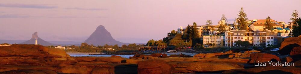 Caloundra sunrise panorama by Liza Yorkston