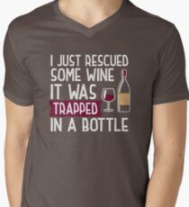 124eee6b3 I Just Rescued Some Wine Funny Wine Lover Gift &T-Shirt V-Neck T