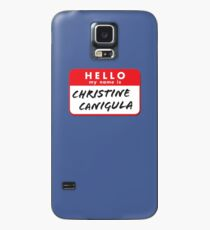 Hello My Name Is Christine Canigula. Fun nametag label design for Be More Chill Fans Case/Skin for Samsung Galaxy