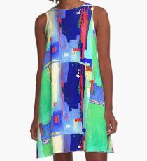 Aqua Island A-Line Dress