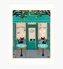 Le Petit Chat Cafe Art Print