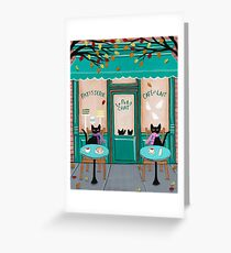 Le Petit Chat Cafe Greeting Card