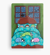 Bedtime With Cats Metal Print