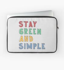 Green and Simple Laptop Sleeve