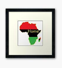Africa is Home. Garvey Framed Print