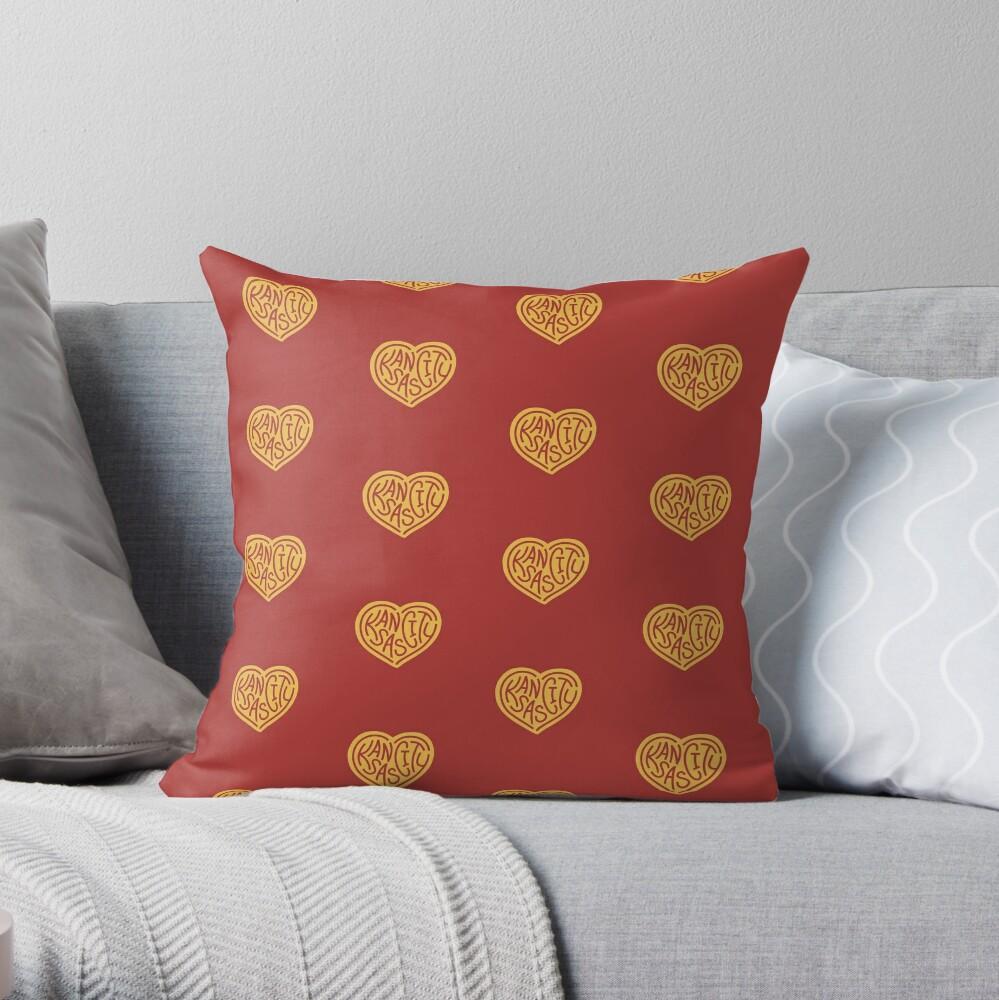 Love KC (red x yellow) Throw Pillow