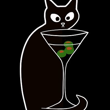 Black Cats Love Martinis | Shaken Not Stirred  by House-of-Roc