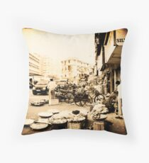BUSTLING BOMBAY Throw Pillow