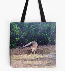 Fox on the hunt Tote Bag