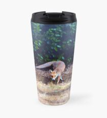 Fox on the hunt Travel Mug