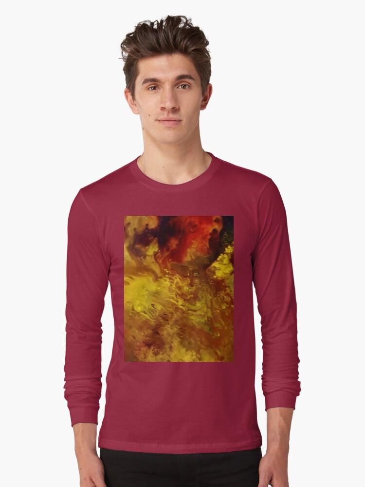 HOT FLAMS 2 Long Sleeve T-Shirt Front