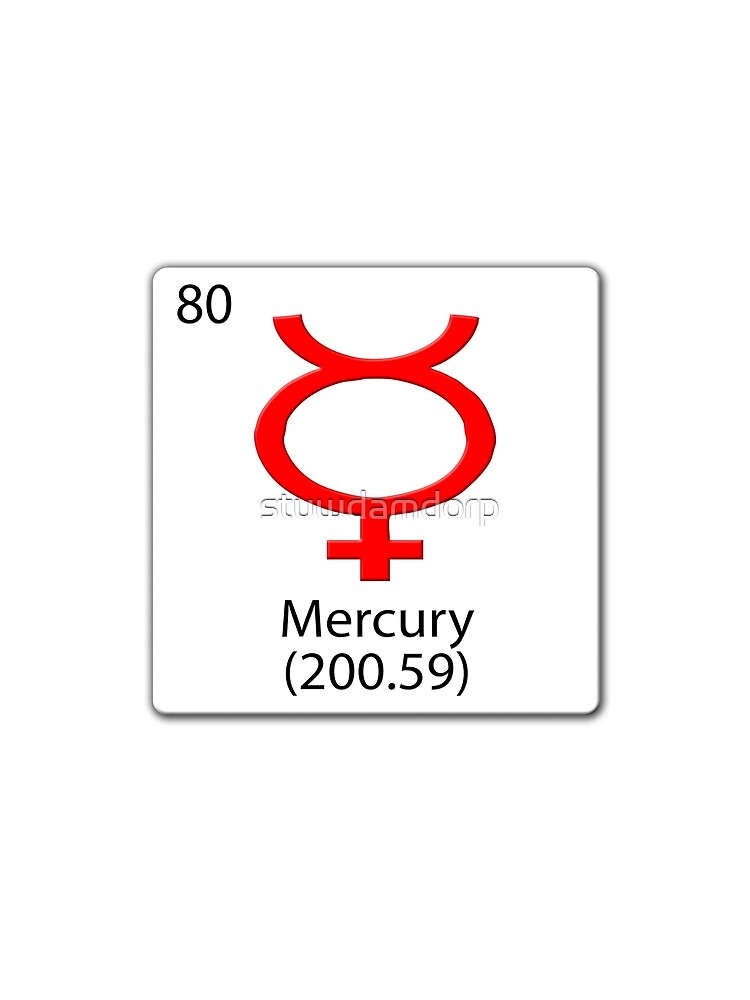 Mercury Planet Symbol On Chemical Tile Womens Chiffon Top By