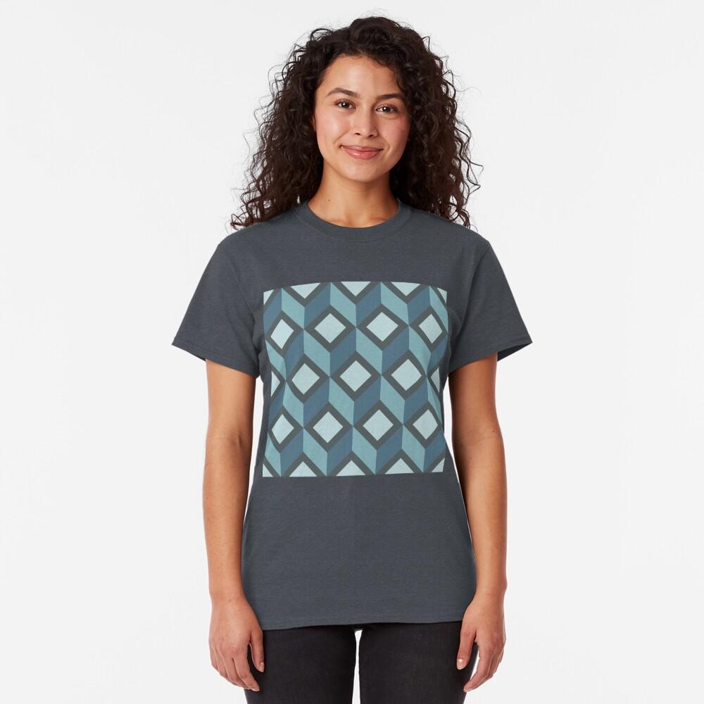 Geometric Pattern: Diamond Chevron: Steel Classic T-Shirt