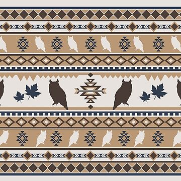 Boho animals | Autumn owl tan by CamillaHaggblom