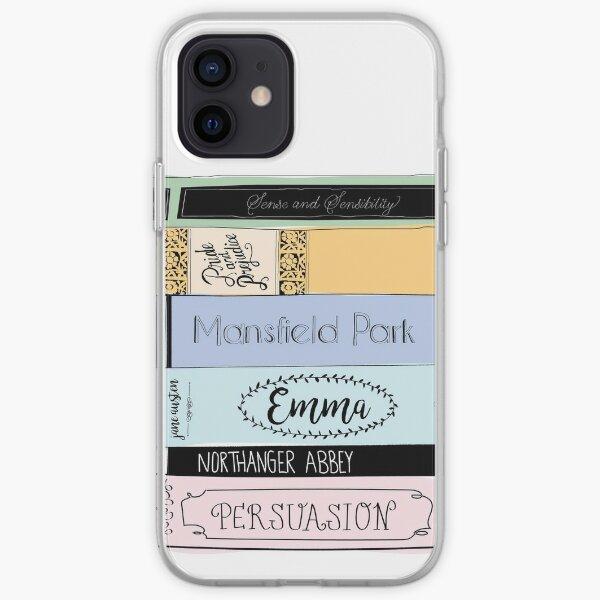 Jane Austen Book Stack - Colour  iPhone Soft Case