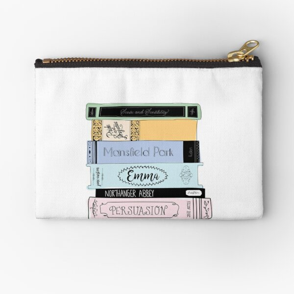 Jane Austen Book Stack - Colour  Zipper Pouch